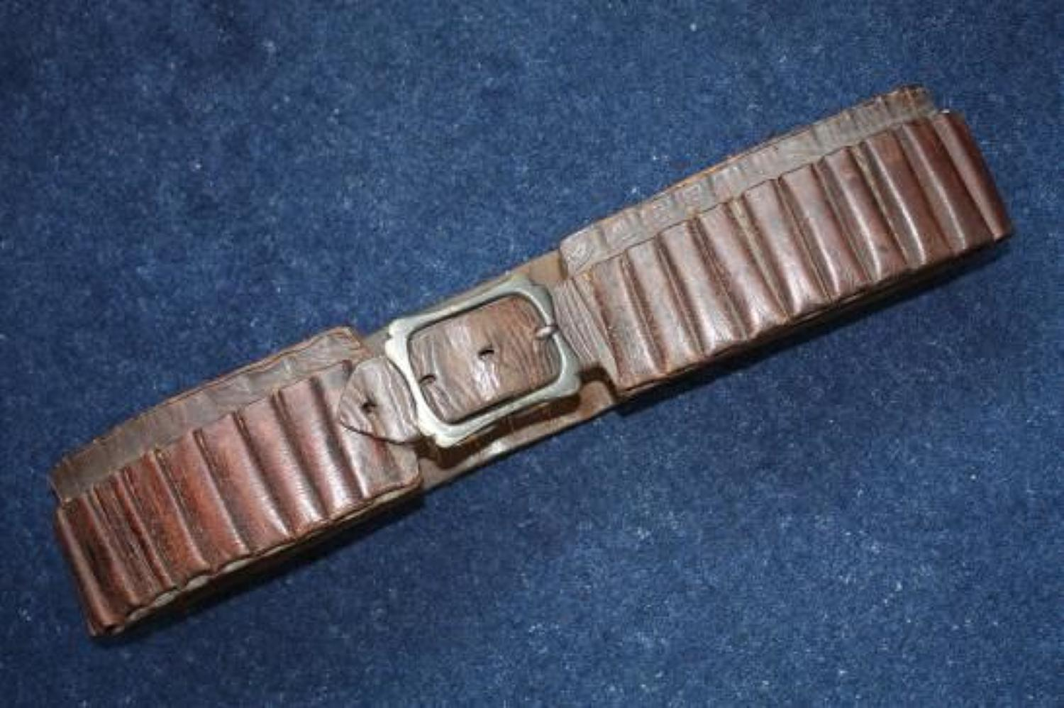 Boer War British Army leather bandolier / belt