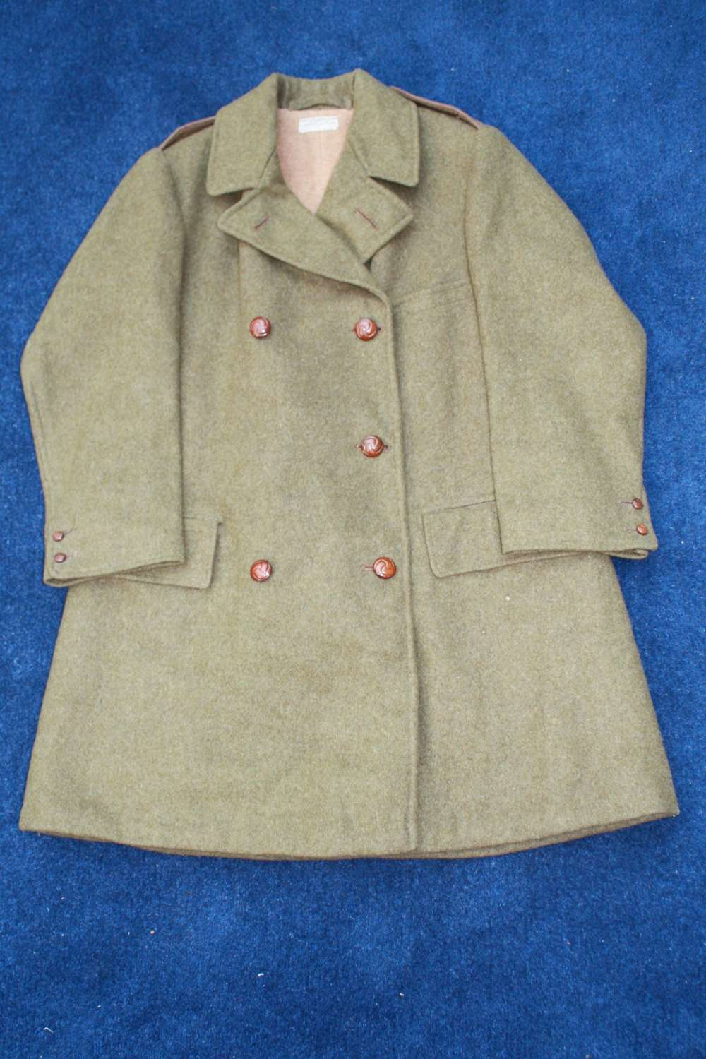 BRITISH BOER WAR OFFICERS HEAVY WEIGHT WOOL COAT