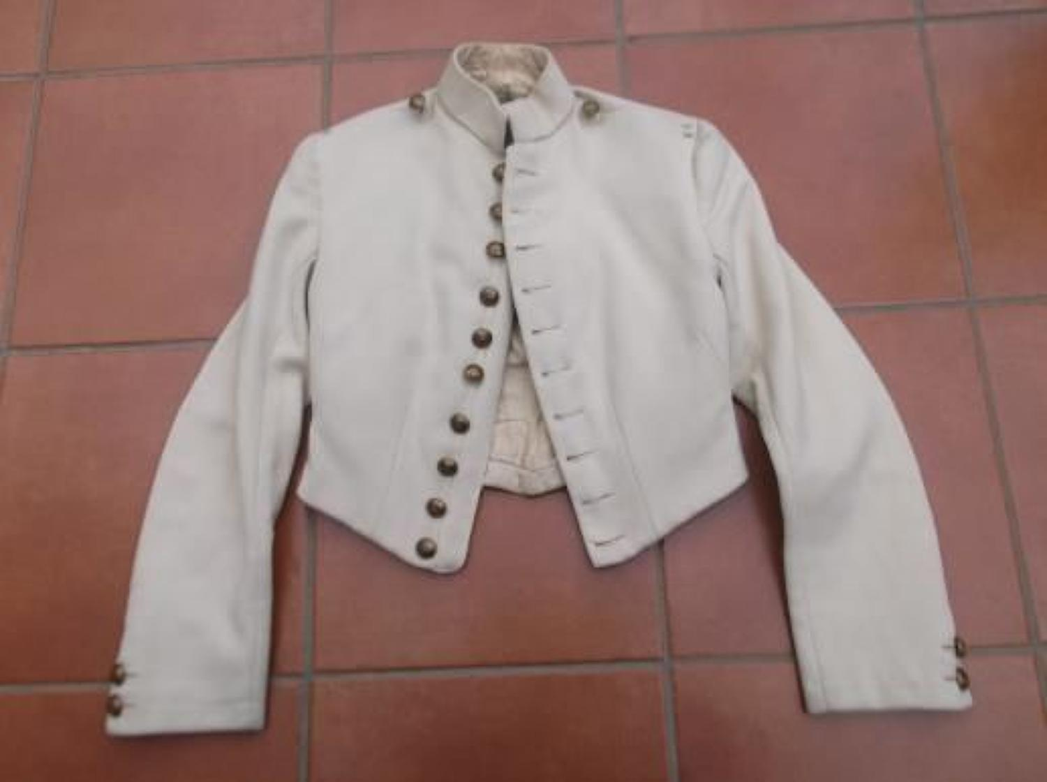 VICTORIAN OFFICERS CREAM SHELL JACKET