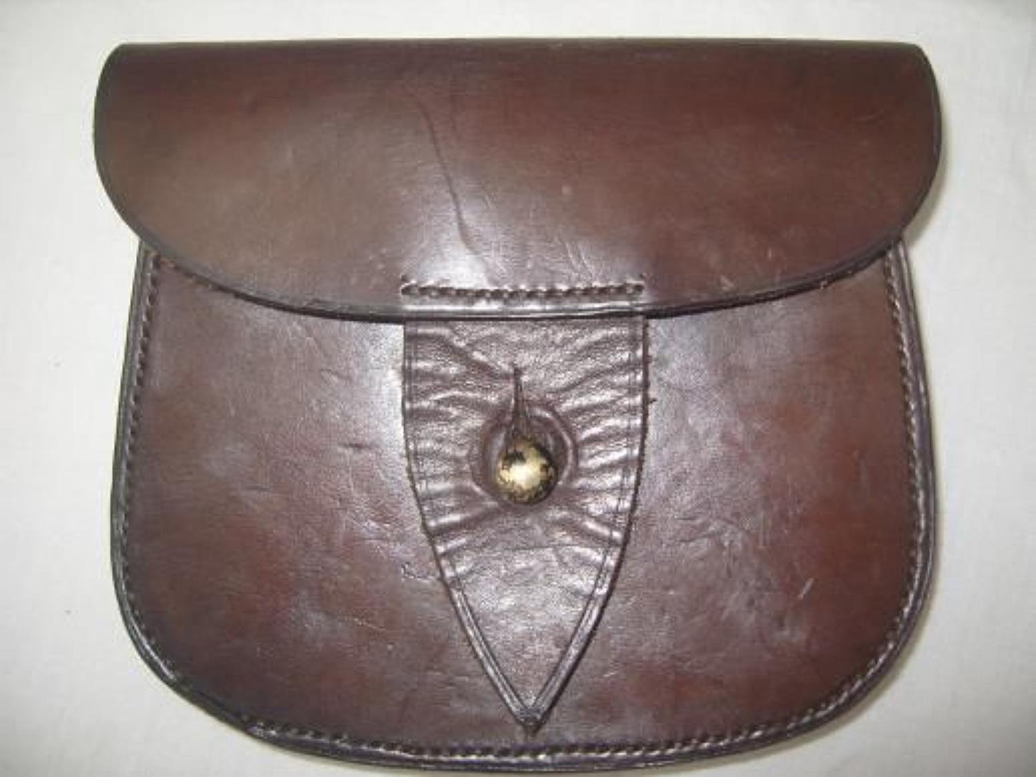 Victorian pattern British officers leather ammunition pouch.