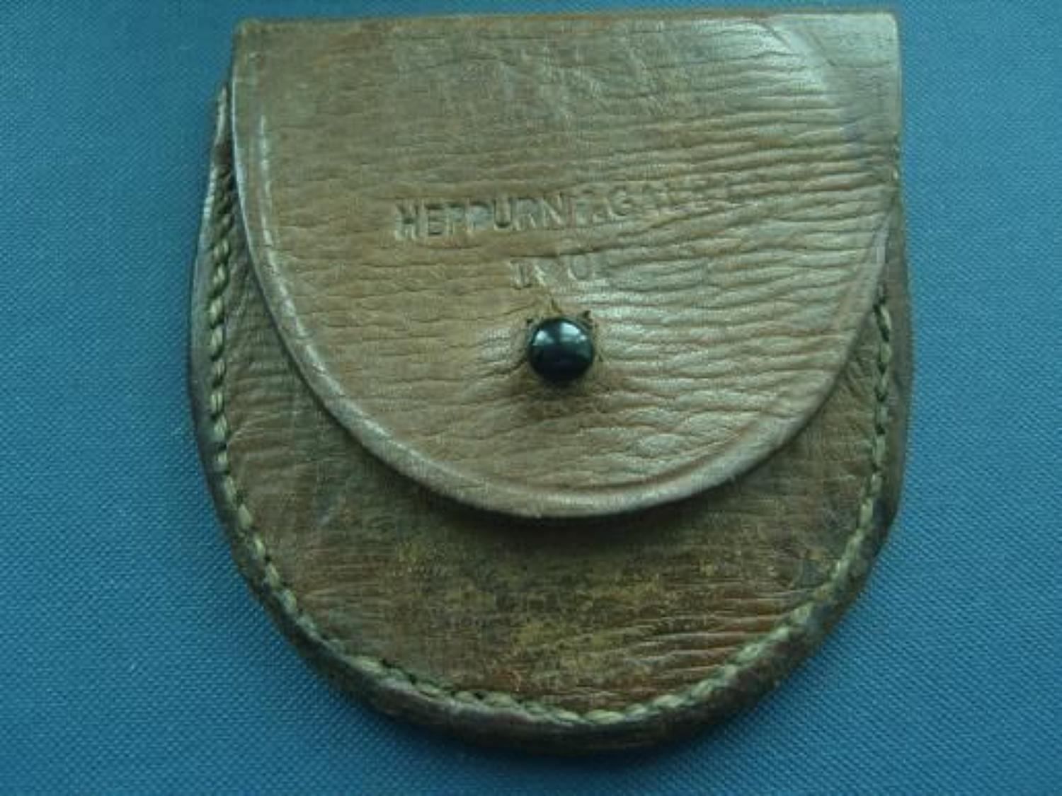 SMALL BOER WAR 1901 DATED LEATHER POUCH
