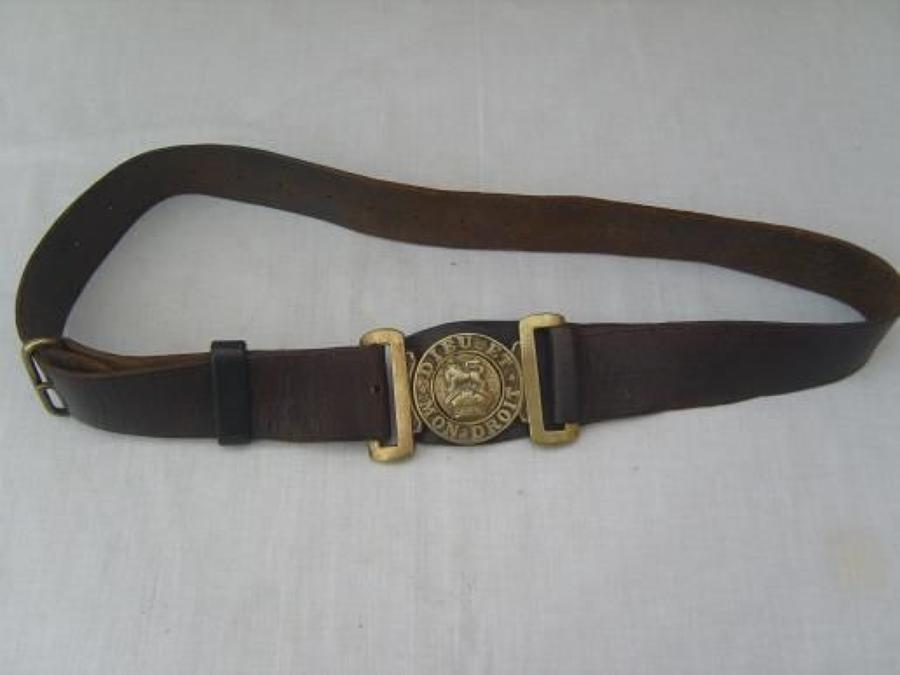 Boer War or WW1 British Army leather belt