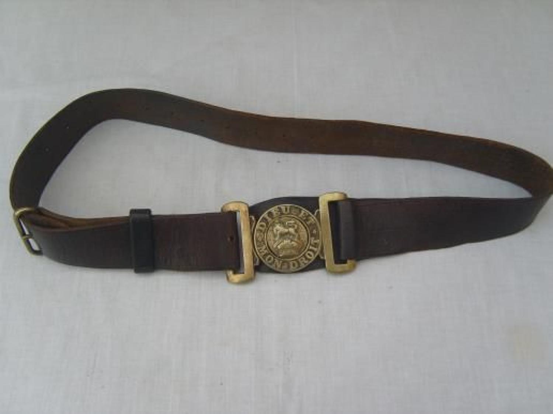 Boer War or WW1 British Army leather belt