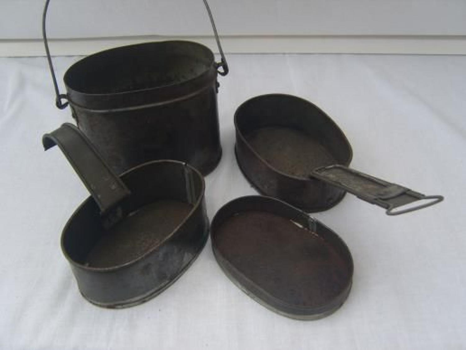 BRITISH ARMY MESS TIN FOUR PART SET PRE WW1