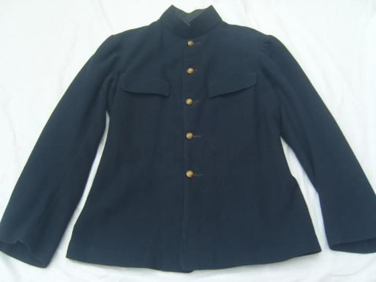 VICTORIAN MILITARY BLUE TUNIC JACKET