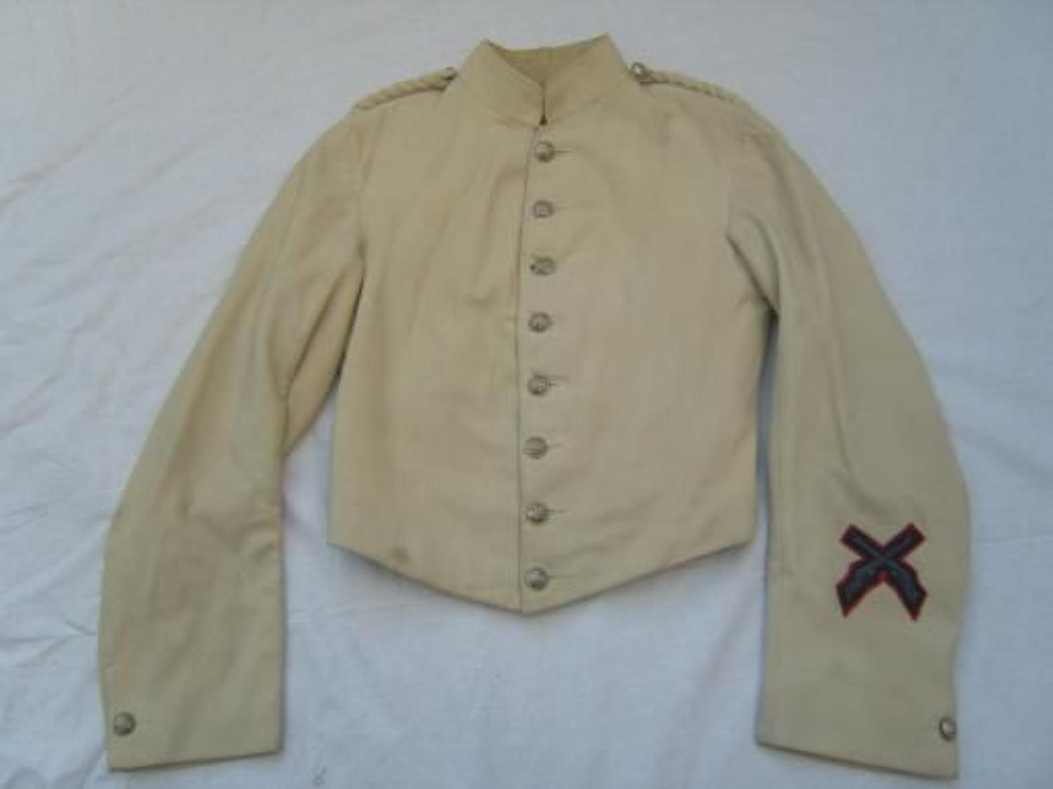 VICTORIAN OFFICERS CREAM SHELL JACKET TO THE HONOURABLE ARTILLERY COMPANY