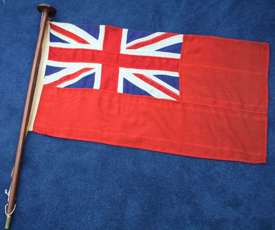 WW2 Royal Navy Red Ensign Ships Flag & Stern Pole