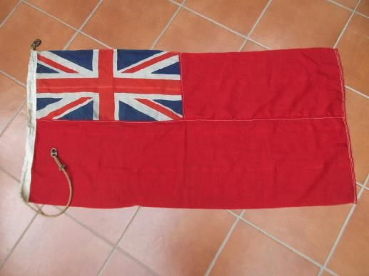 WW2 Royal Navy Red Ensign Ships Flag Dated 1944