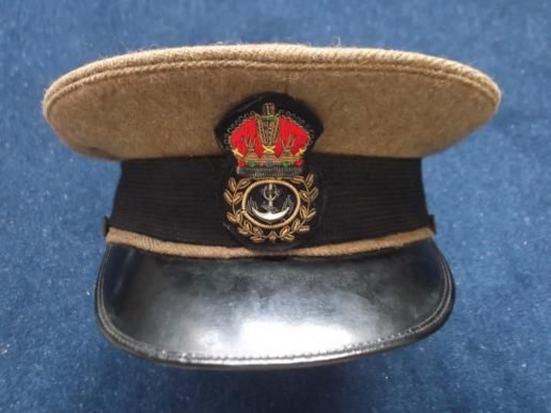 ROYAL NAVY BRITISH KHAKI SERVICE DRESS CAP