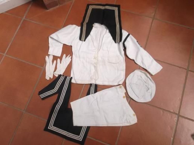 Edwardian child's Royal Navy Uniform