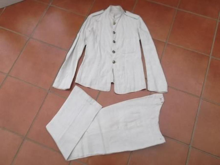 WW1 ROYAL NAVY,PRE WW1 DATED RMLI Fatigue/ Working Dress Tunic & Trousers