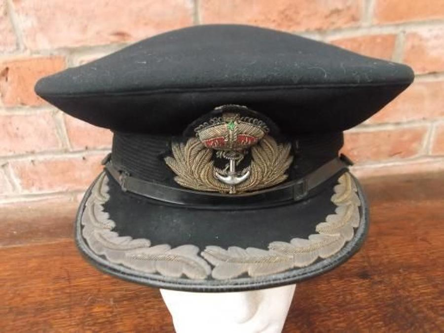 ROYAL NAVY WW2 SENIOR OFFICERS PEAK CAP