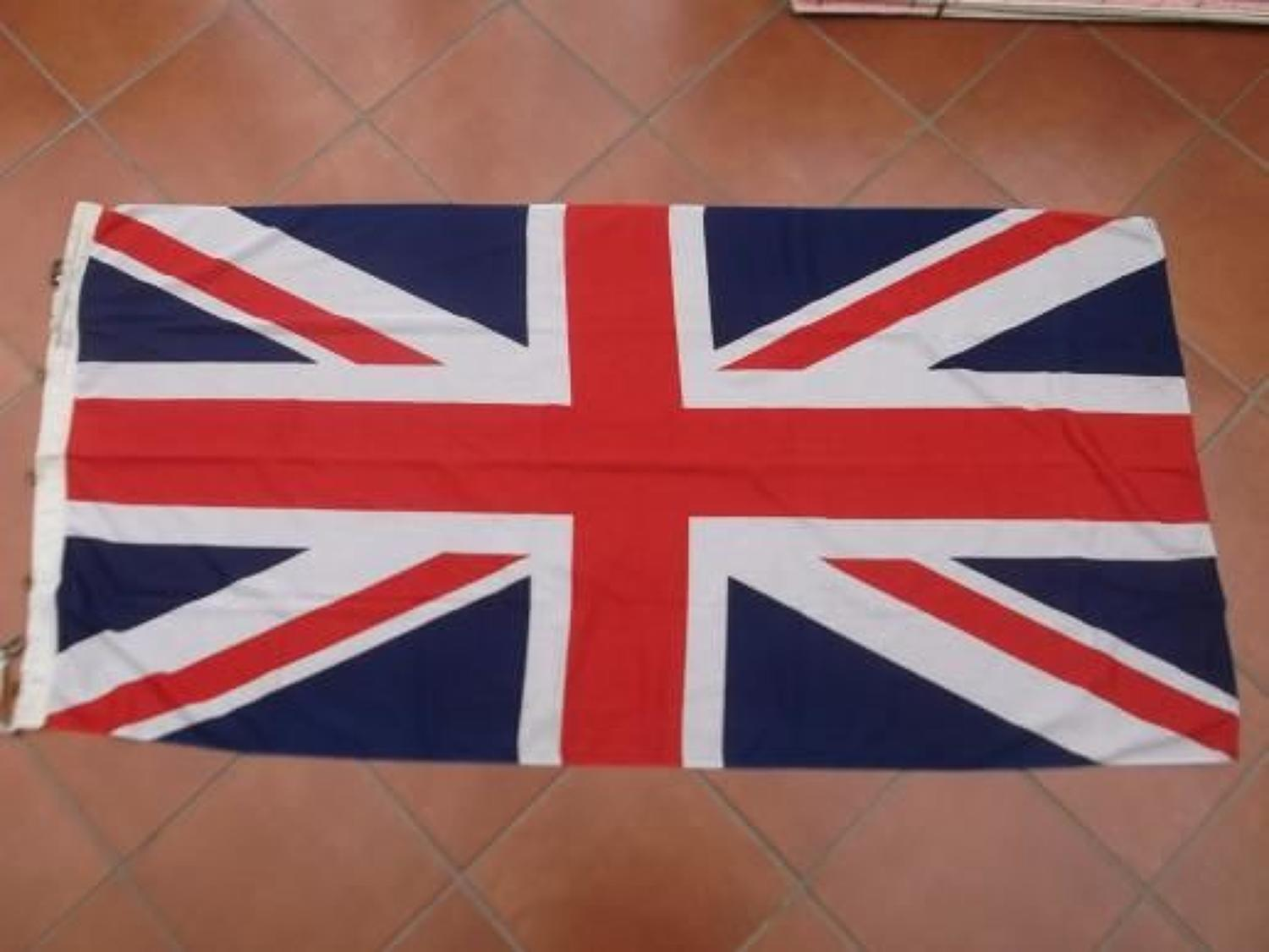 ORIGINAL BRITISH UNION JACK FLAG:  CHATHAM DOCKYARD