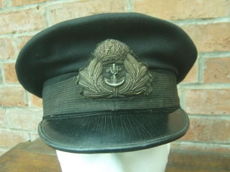 WW1 ROYAL NAVY OFFICERS PEAK CAP