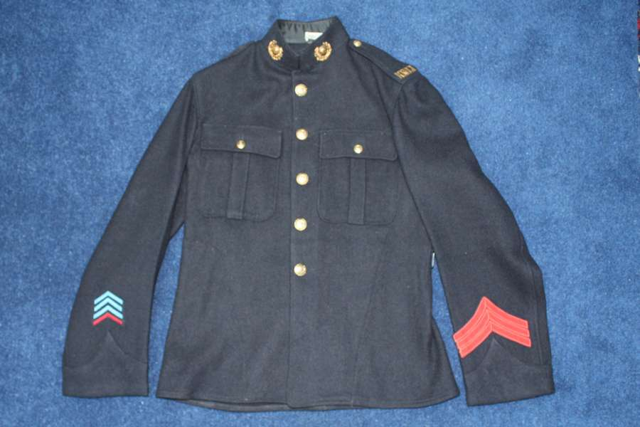 WW1 BLUE TUNIC OF THE ROYAL MARINE LIGHT INFANTRY