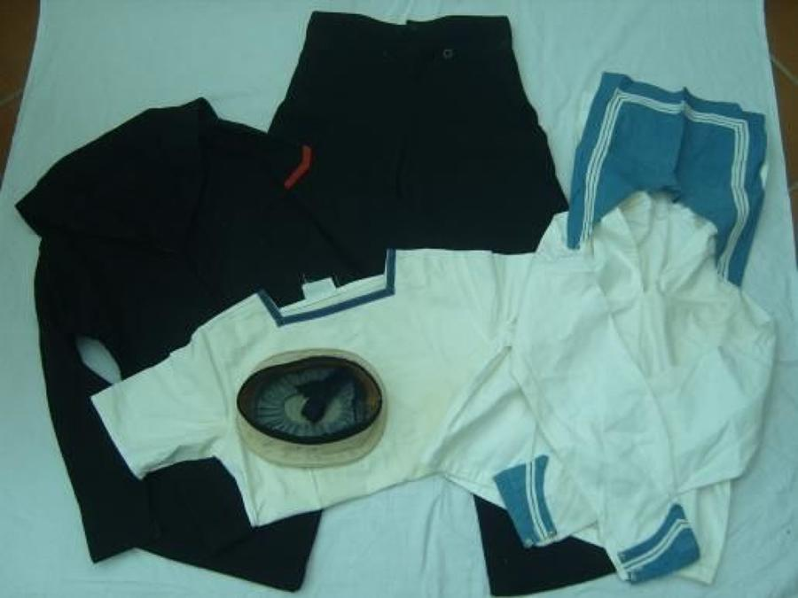 WW2 ROYAL NAVY RATINGS 5 PIECE UNIFORM