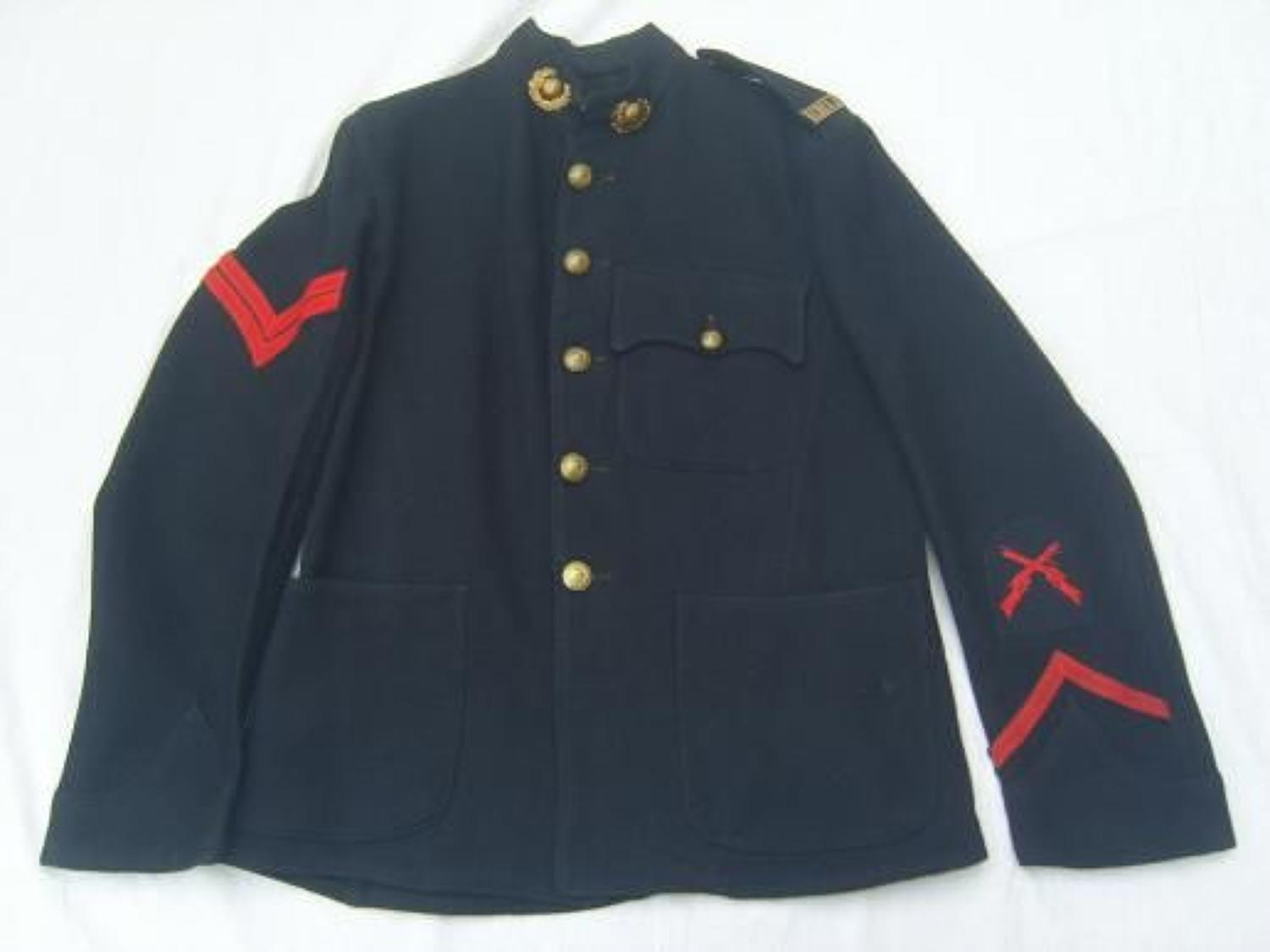 WW1 ROYAL MARINE LIGHT INFANTRY TUNIC