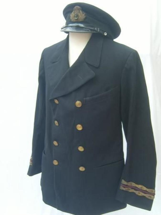 1915 DATED TUNIC & CAP TO ROYAL NAVAL RESERVE OFFICER