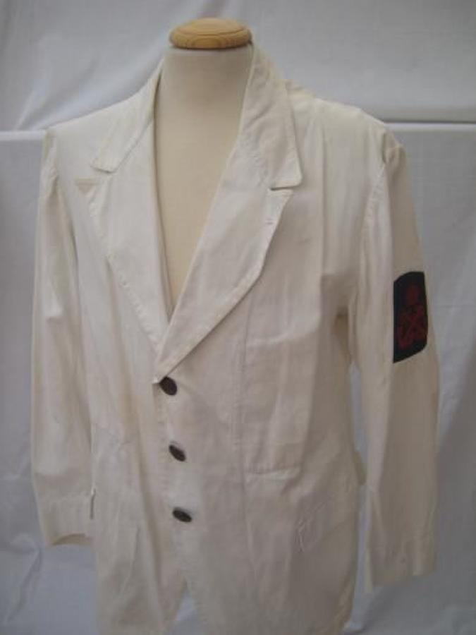 WW1 RNAS WHITE WORKING JACKET