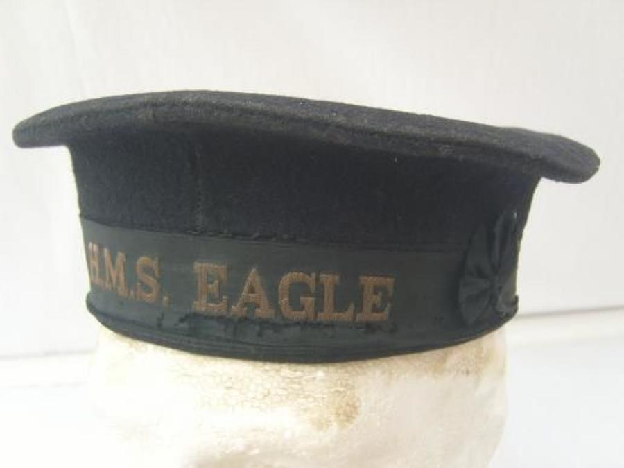 WW2 ROYAL NAVY RATINGS CAP HMS EAGLE