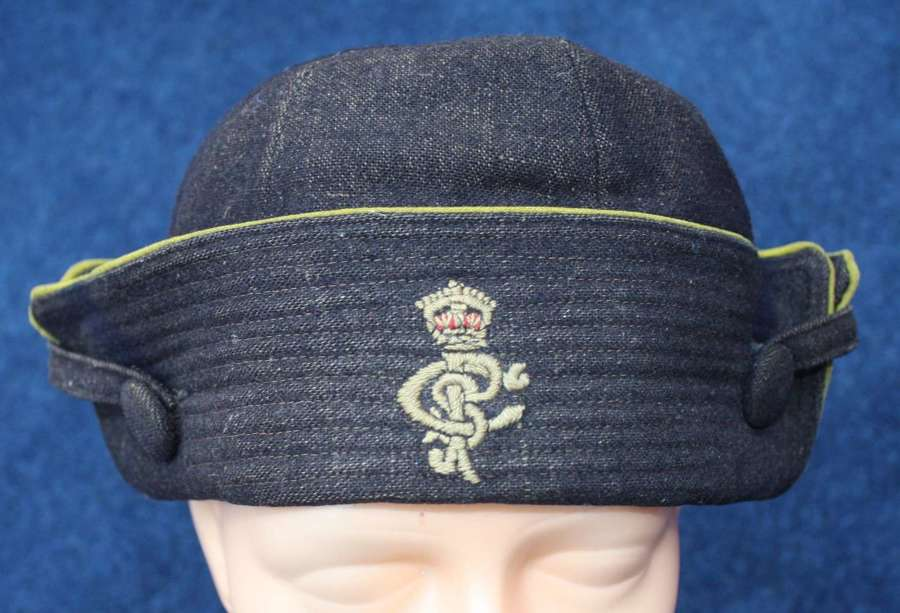 WOMENS WW1 DARK BLUE & YELLOW CAP