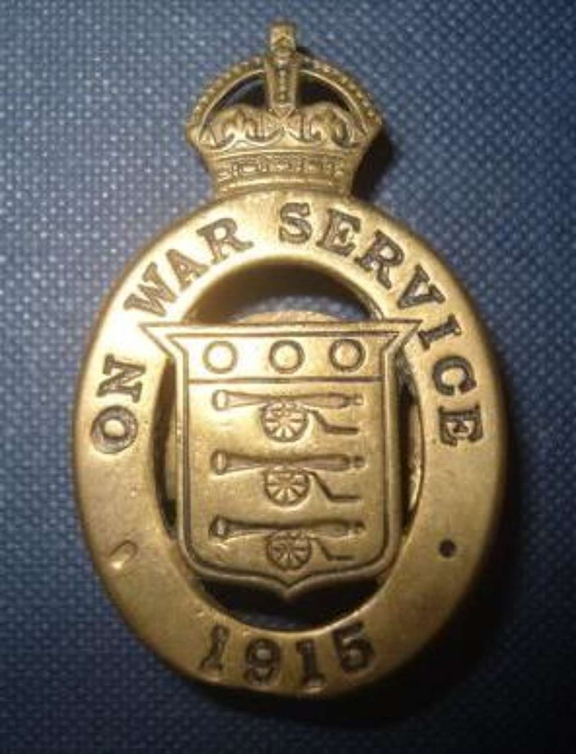 Civilian WW1 Brass 1915 War Service badge