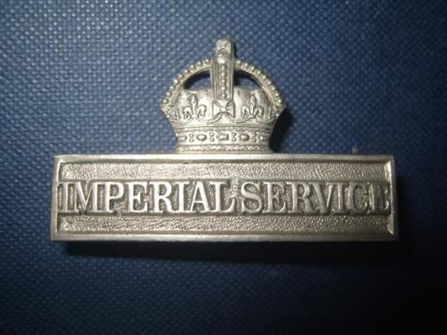British WW1 Territorial badge: Imperial Service.