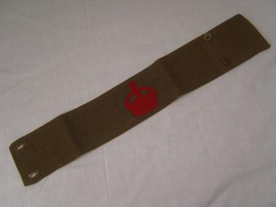 WW1 DERBY SCHEME 1915 KHAKI ATTESTED ARMBAND