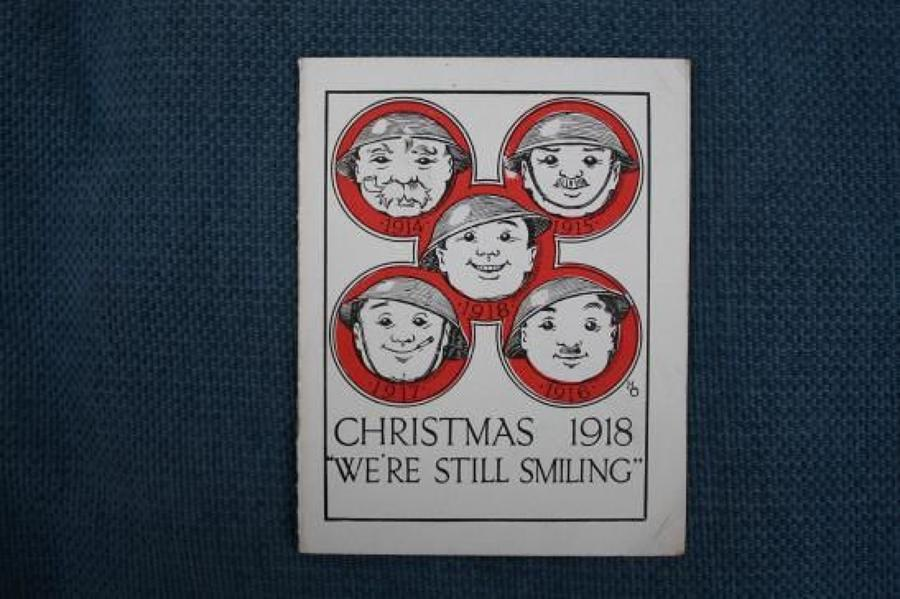 WW1 British Army 32nd Division Christmas Card 1918