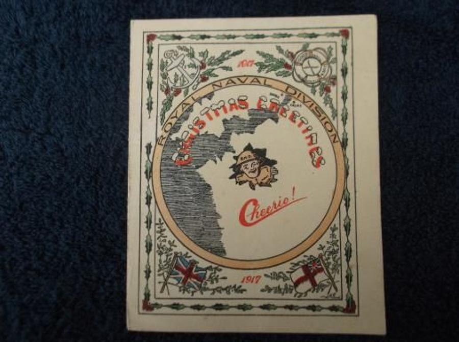 WW1 CHRISTMAS CARD: BRITISH ARMY 63rd RND DIVISION