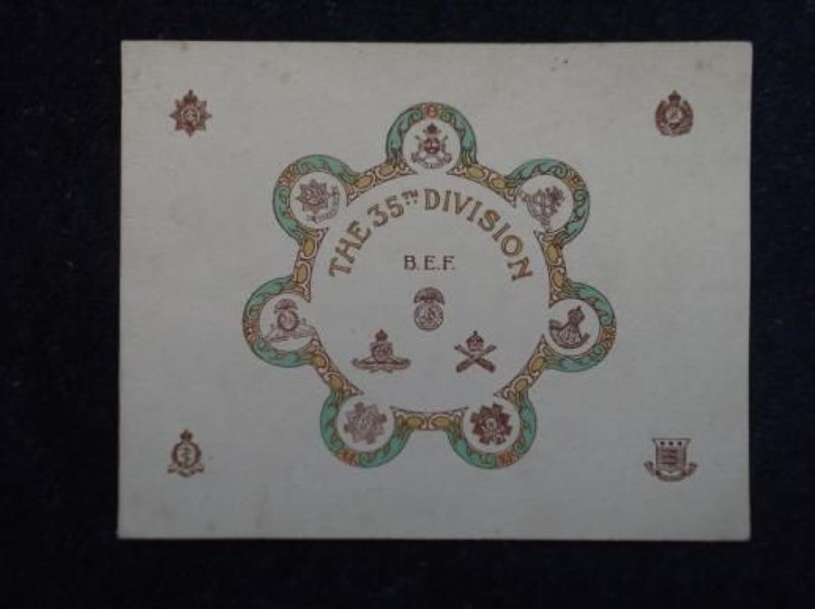WW1 CHRISTMAS CARD: BRITISH ARMY 35TH DIVISION