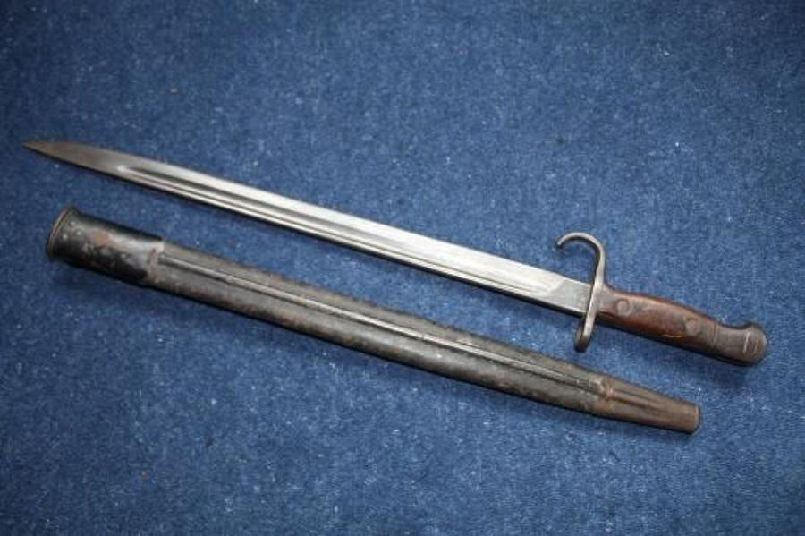 Pre WW1 Hooked Quillion Bayonet 1907 pattern. 1st Lancashire Fusiliers