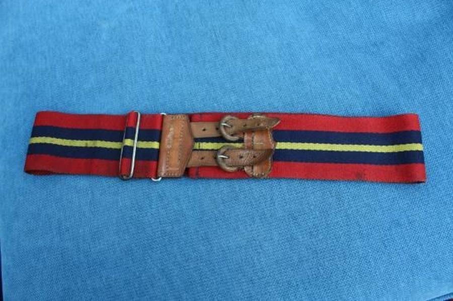 WW1 British Stable Belt. RFA, RHA or RGA