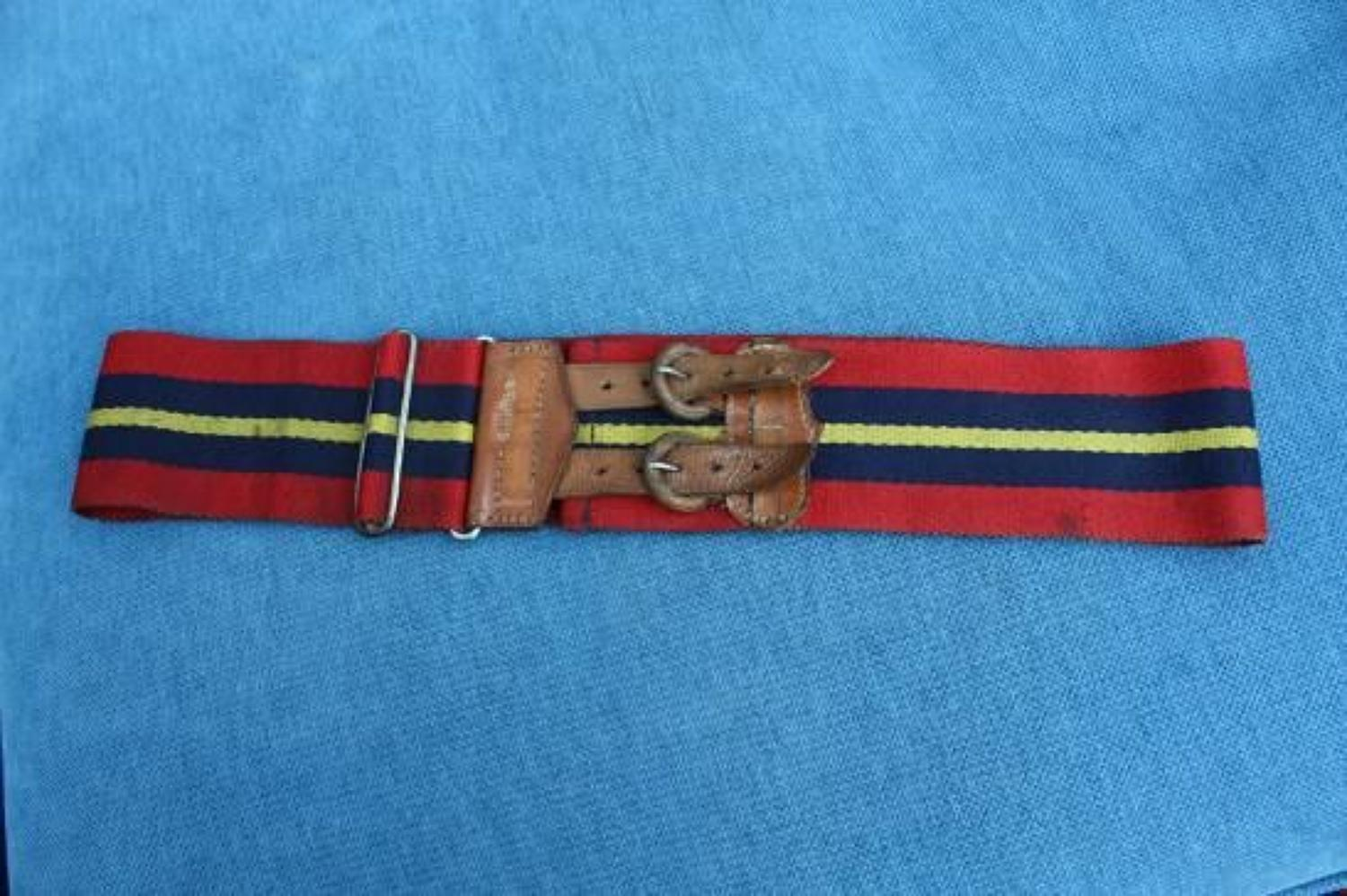 WW1 British Stable Belt. RFA, RHA or RGA