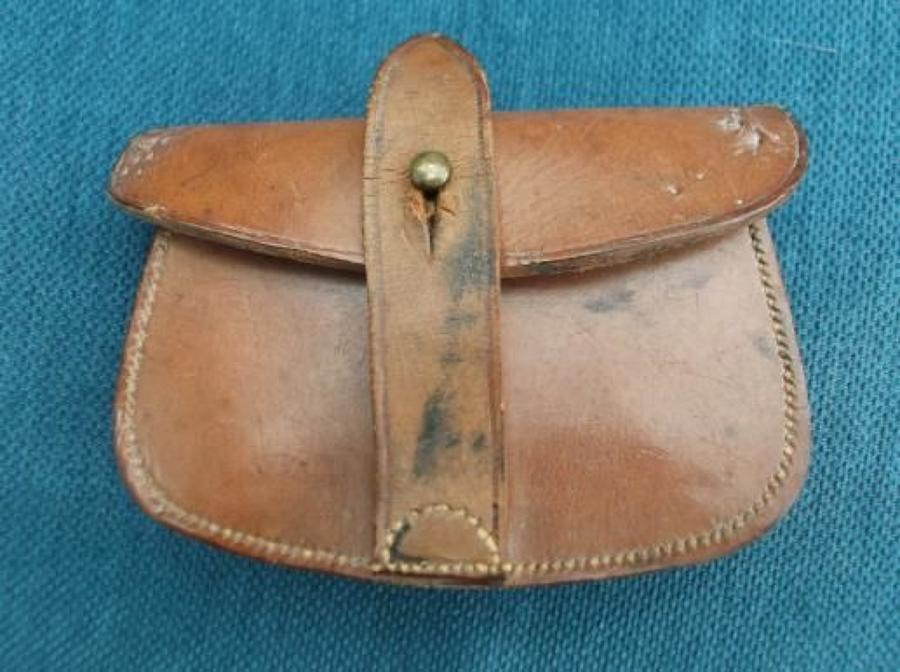 WW1 1917 DATED OFFICERS WEBLEY LEATHER AMMUNITION POUCH