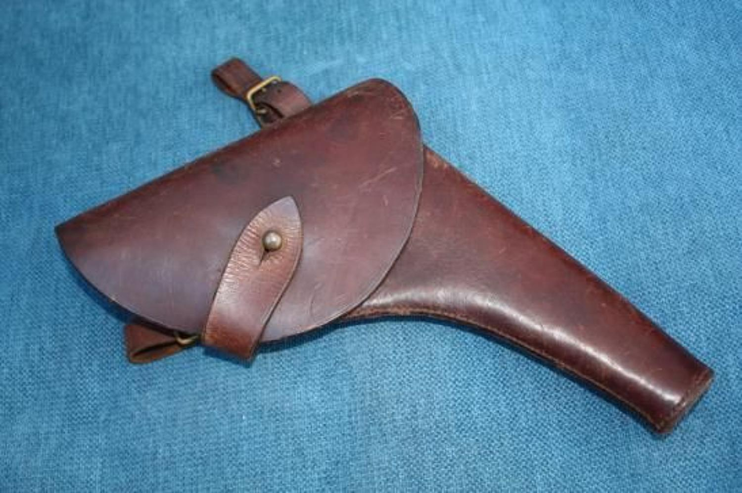 WW1 BRITISH OFFICERS WEBLEY LEATHER PISTOL HOLSTER