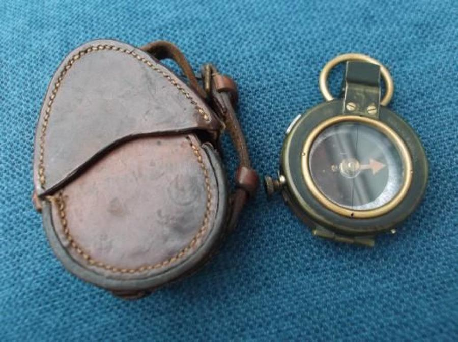 VERNERS PATTERN Mark VIII 1917 DATED BRITISH ARMY OFFICERS COMPASS & C