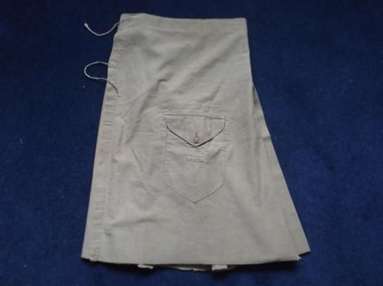 WW1 pattern Khaki cotton Highlanders Full wrap around Kilt Cover