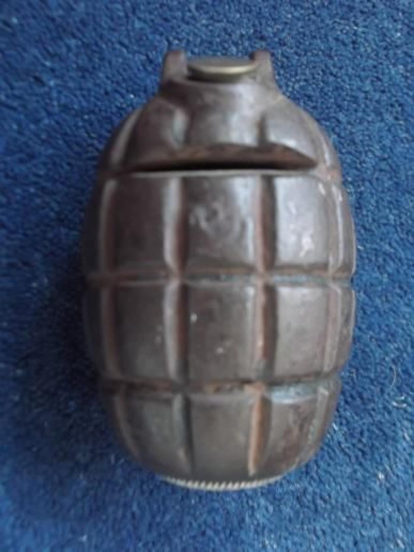 WW1 Trench Art Grenade Money Box