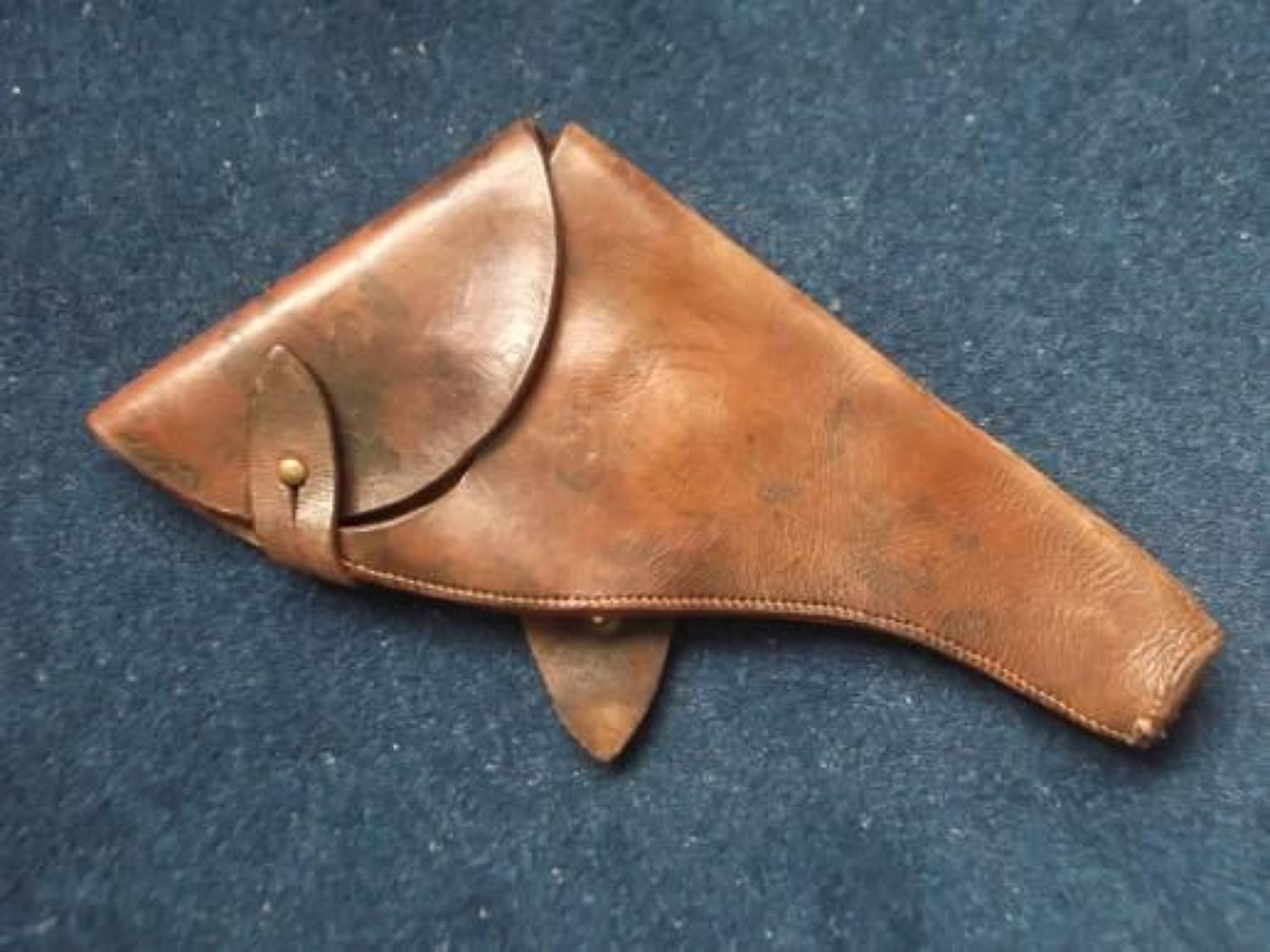 WW1 1917 DATED BRITISH OFFICERS WEBLEY LEATHER PISTOL HOLSTER
