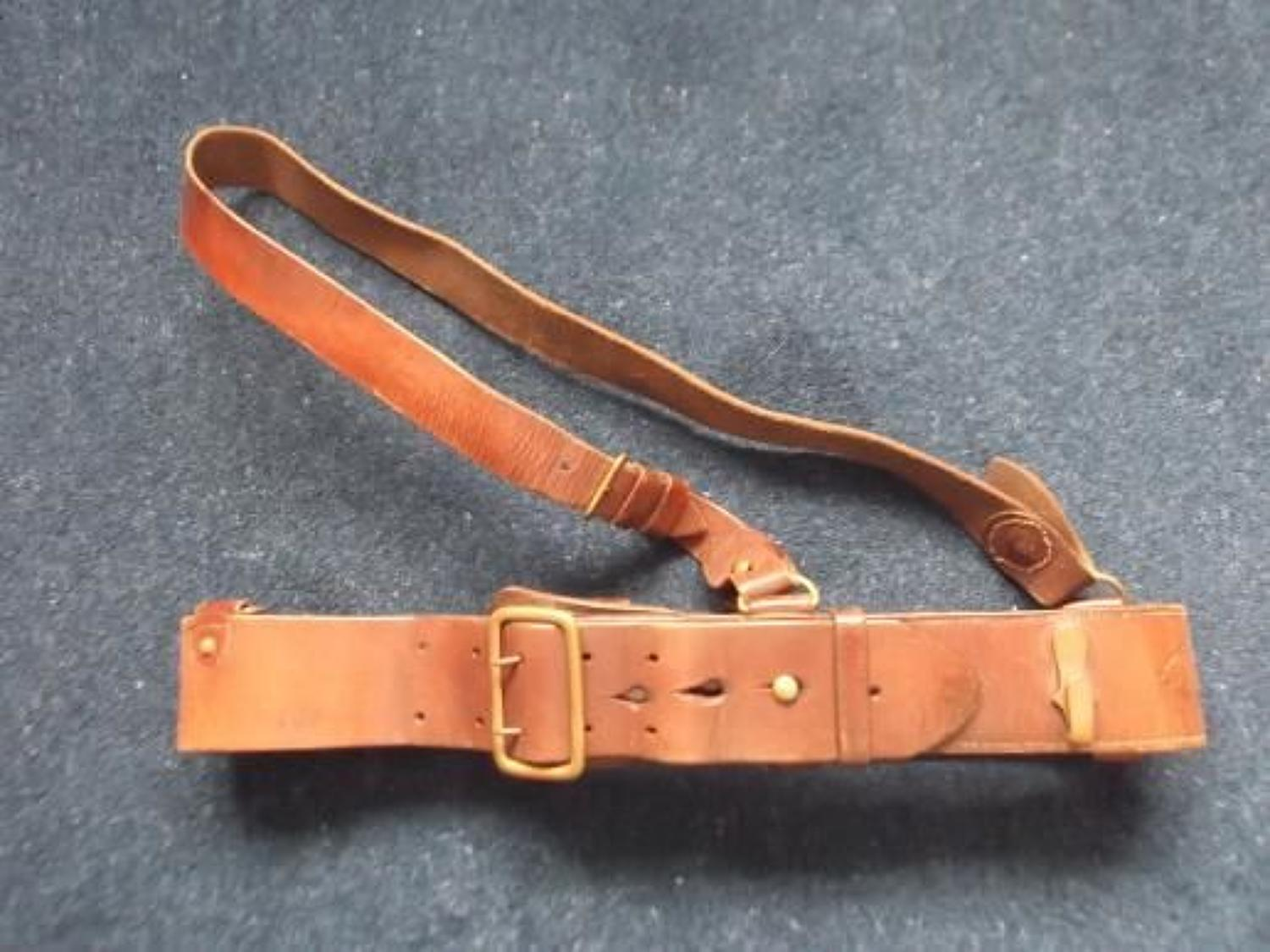 1917 DATED BRITISH ARMY OFFICERS SAM BROWNE BELT