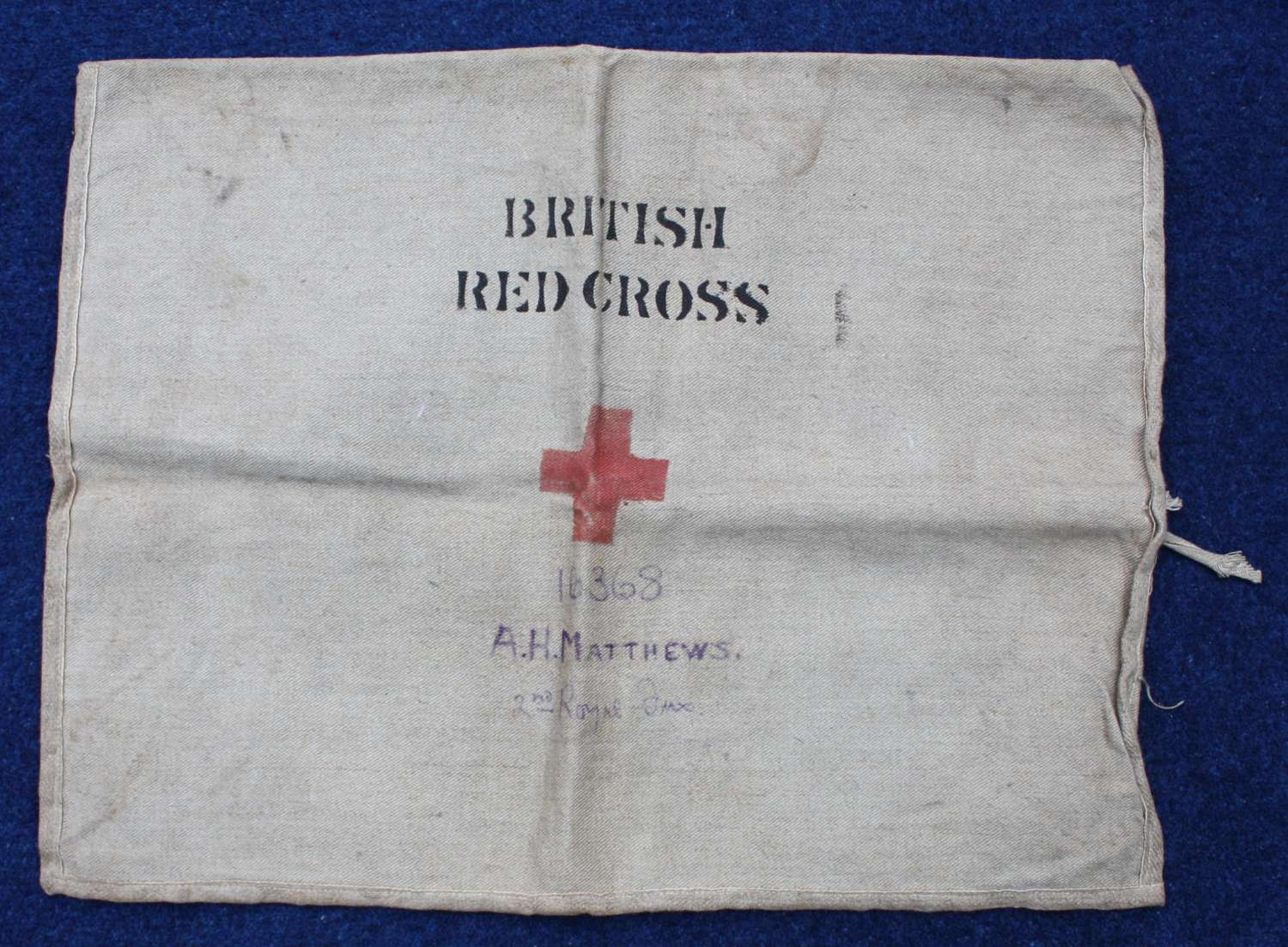 WW1 British Army Red Cross Bag: 2nd Royal Fusiliers Gallipoli