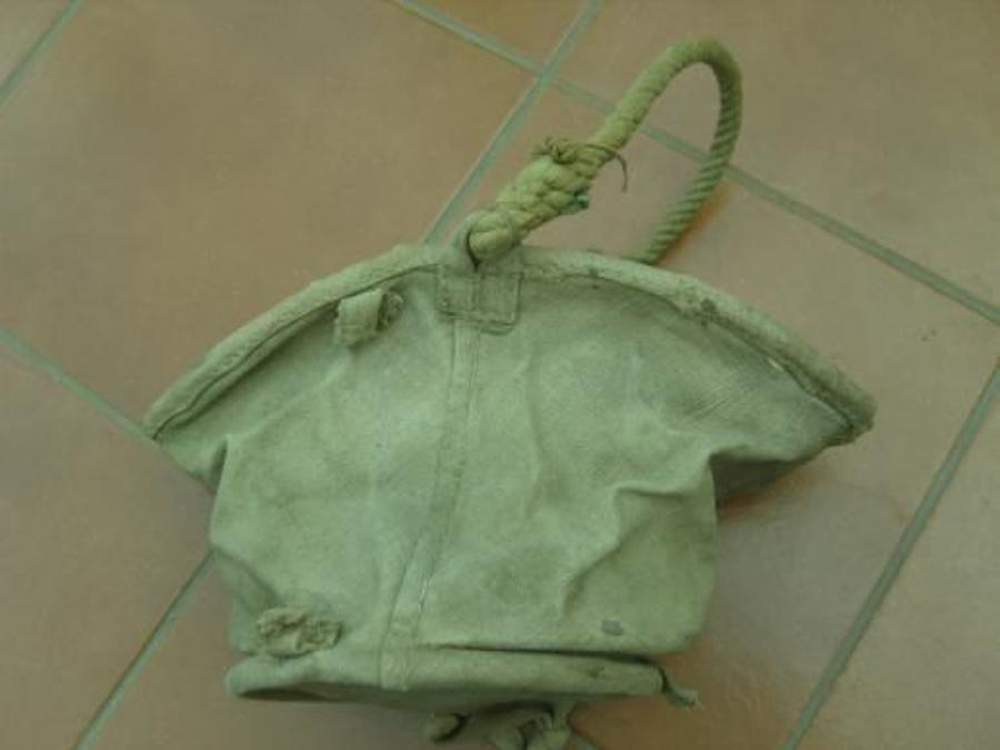 British Army Canvas bucket. Unknown date