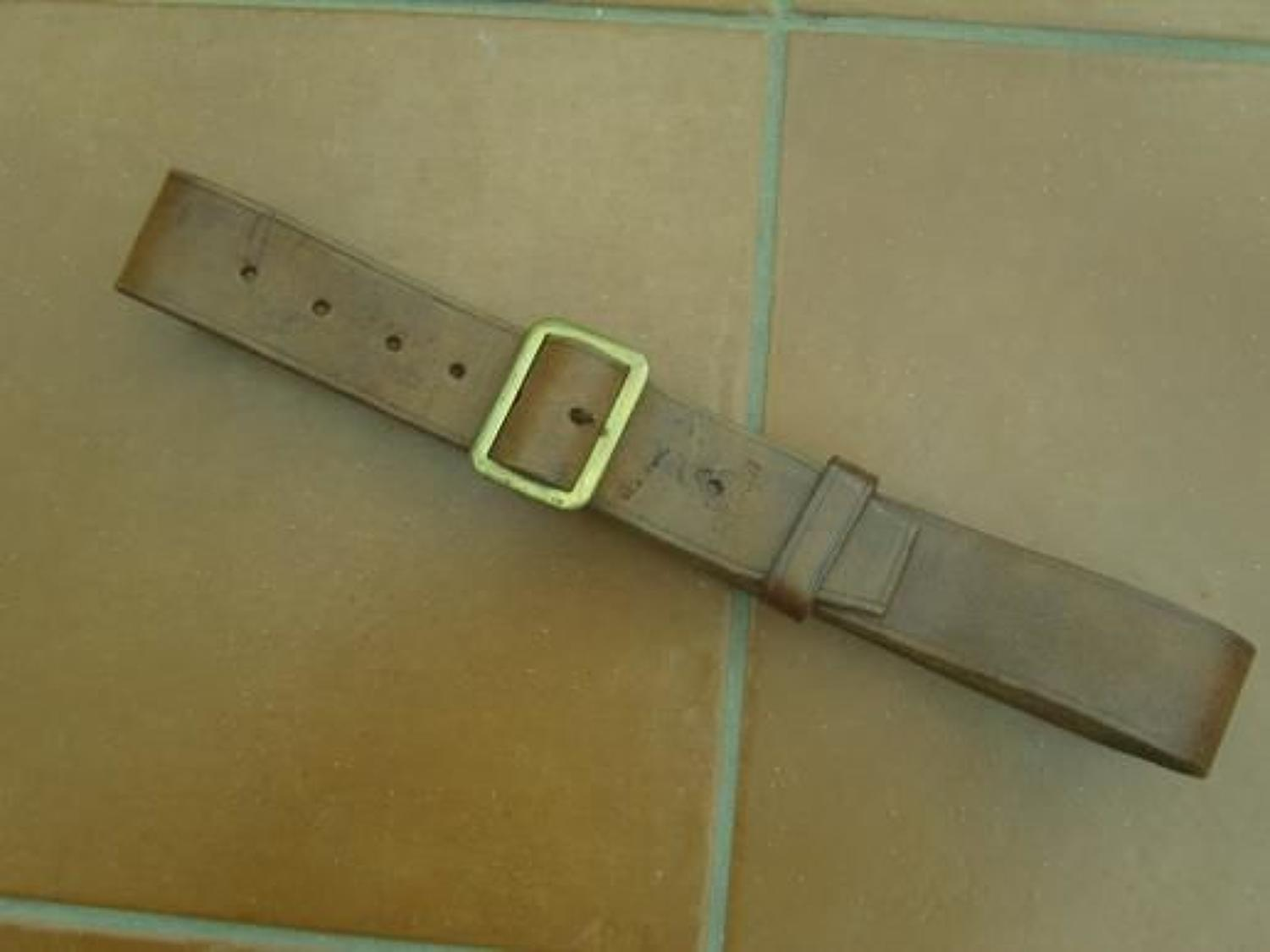 WW1 British '03 Pattern Leather Belt dated 1913