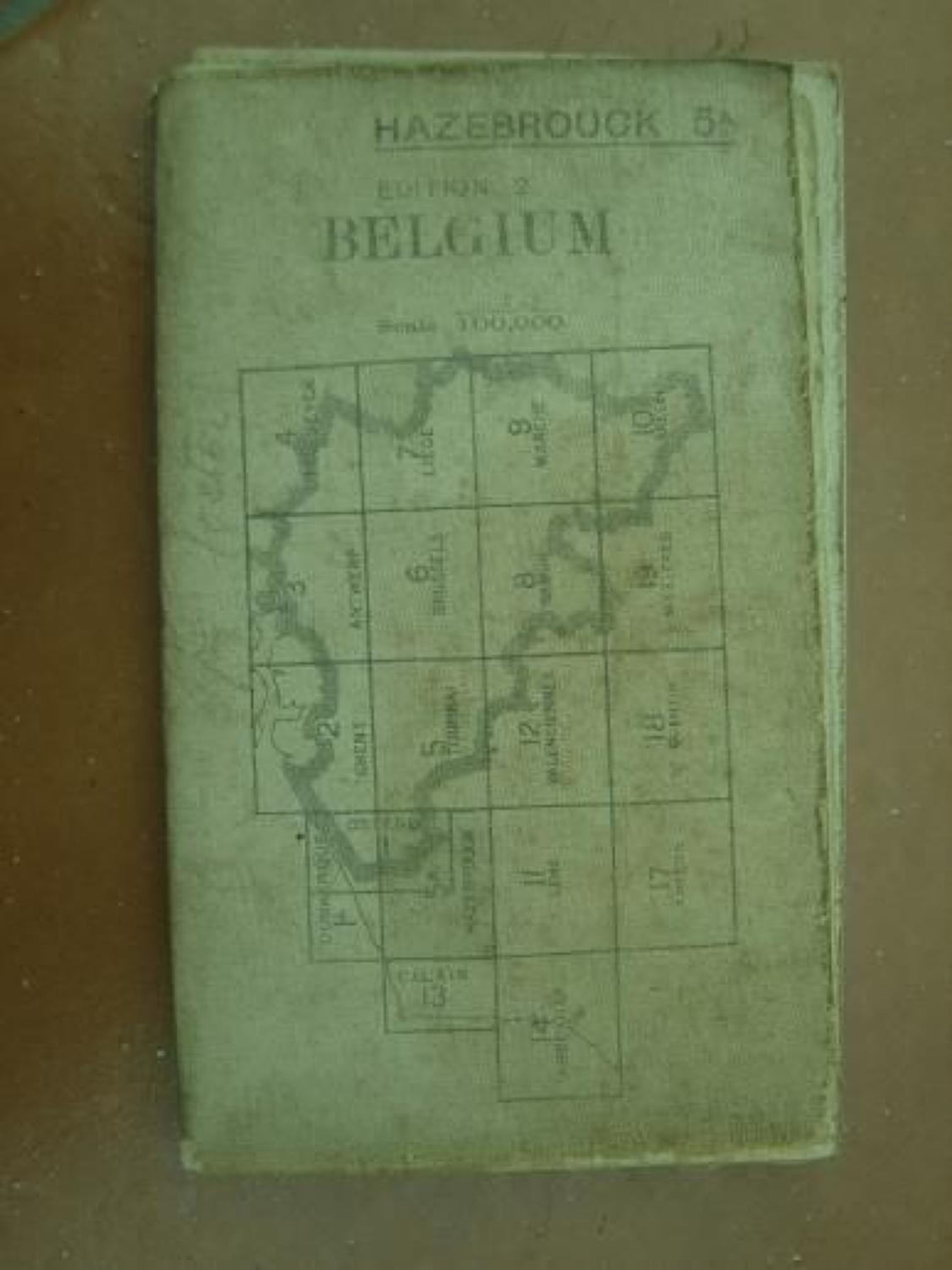 WW1 1916 Dated Map of Hazebrouck Belgium. Includes Ypres.