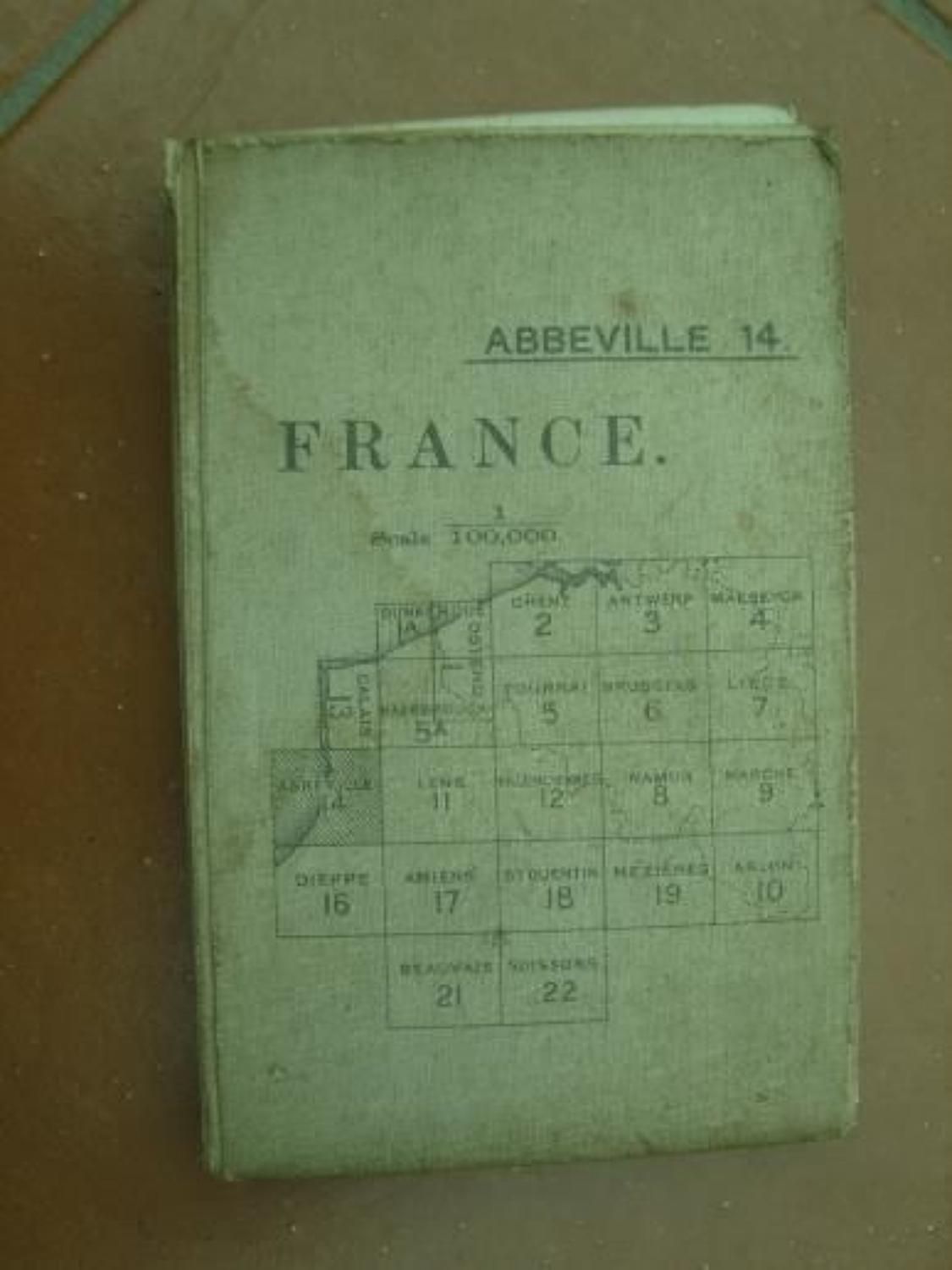 WW1 British Army 1915 Dated Map of Abbeville, France