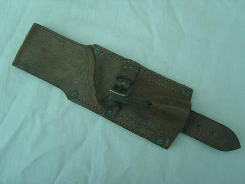 Original British 1914 pattern leather bayonet frog