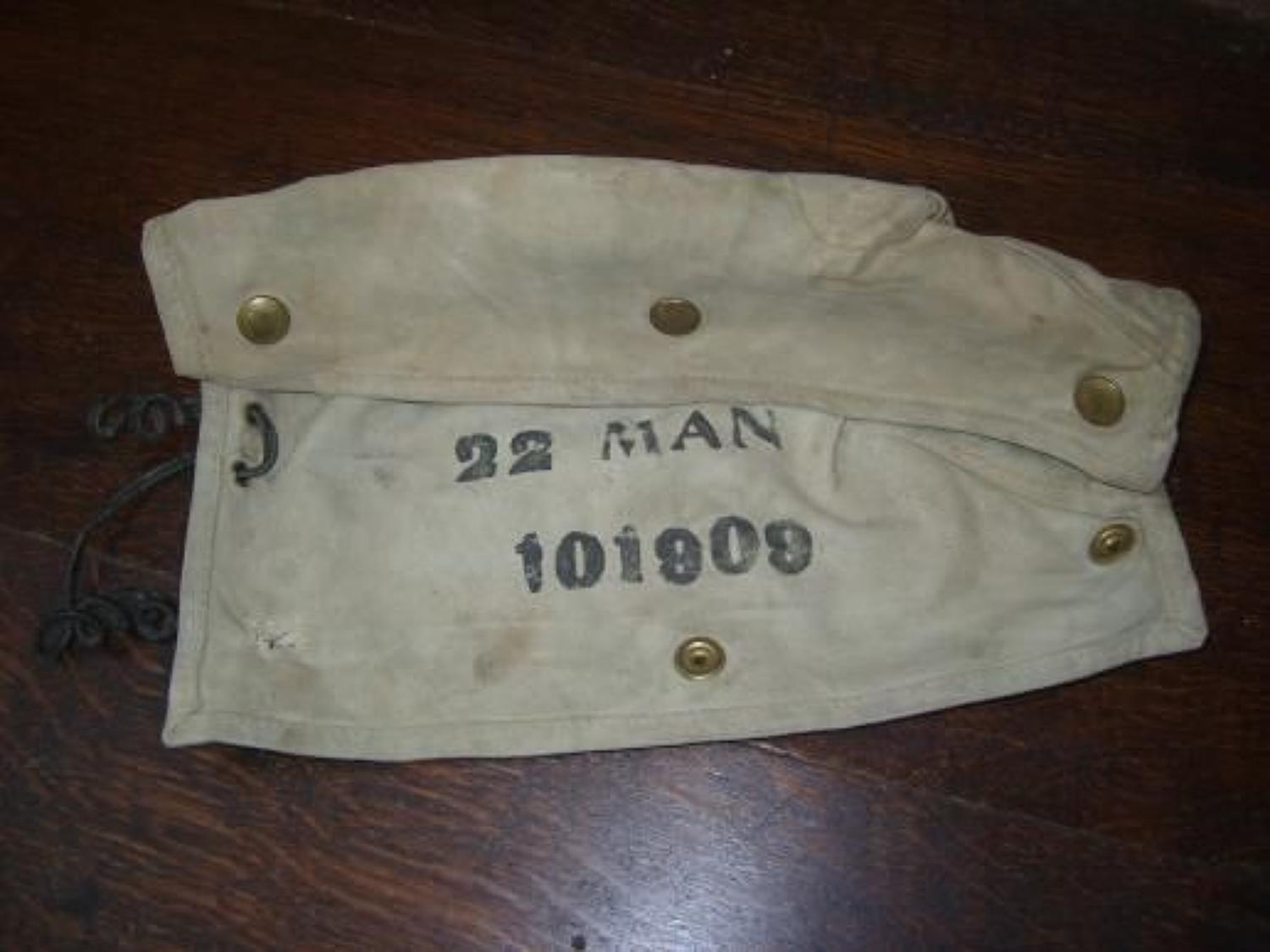Canvas Rifle Breech cover WW1.1916 dated. 22nd Manchester