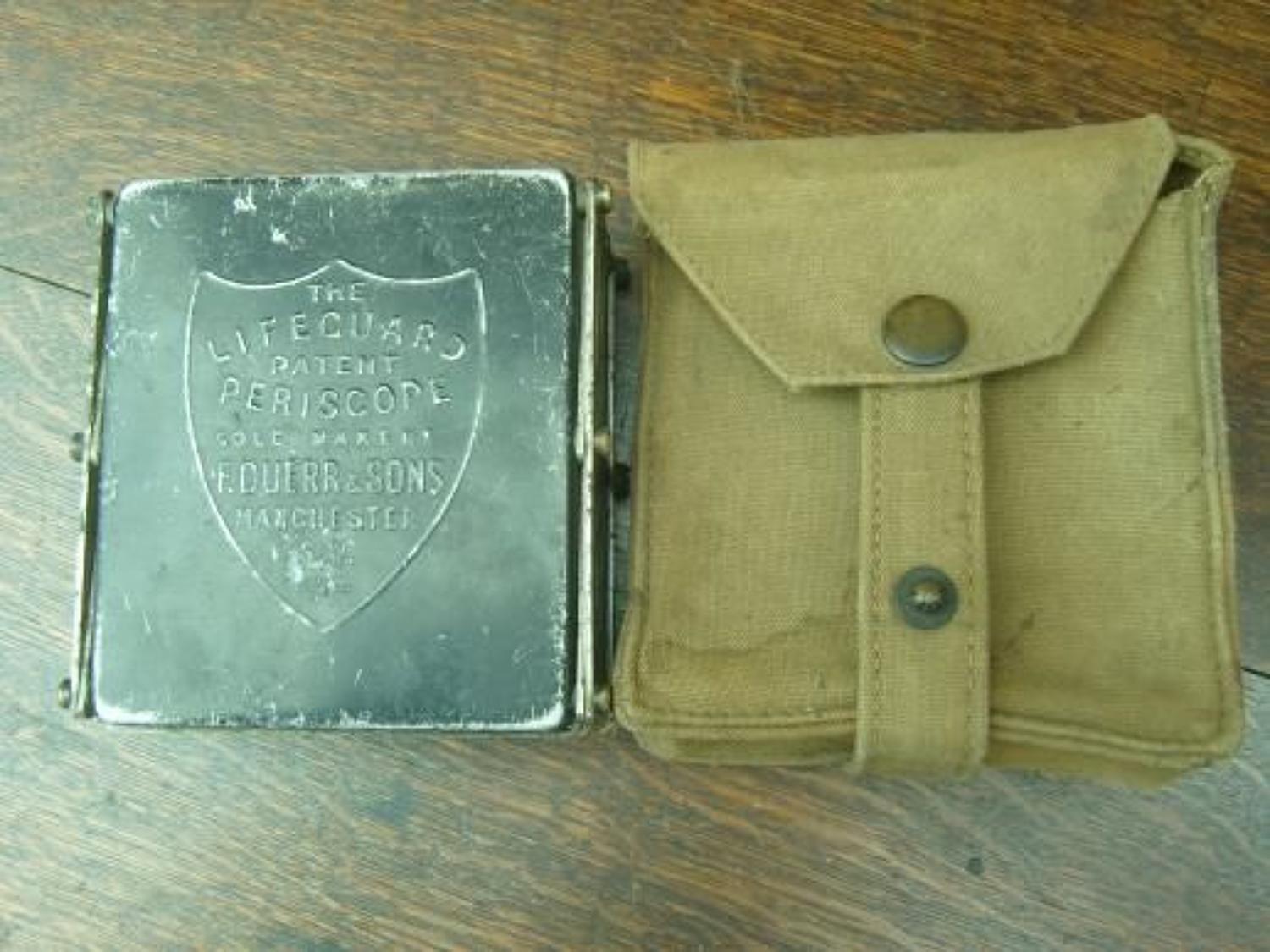 WW1 British Army Officer's Duerr's Lifeguard periscope in case