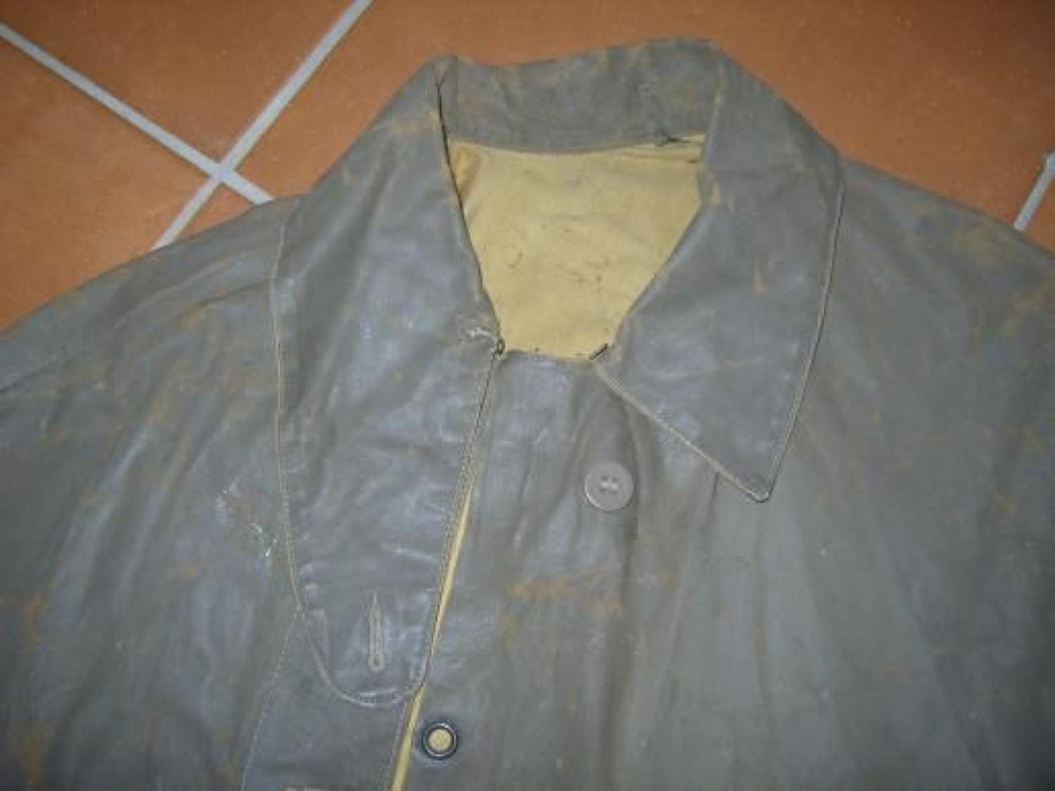 BRITISH ARMY 1918 DATED OTHER RANKS WATERPROOF CAPE